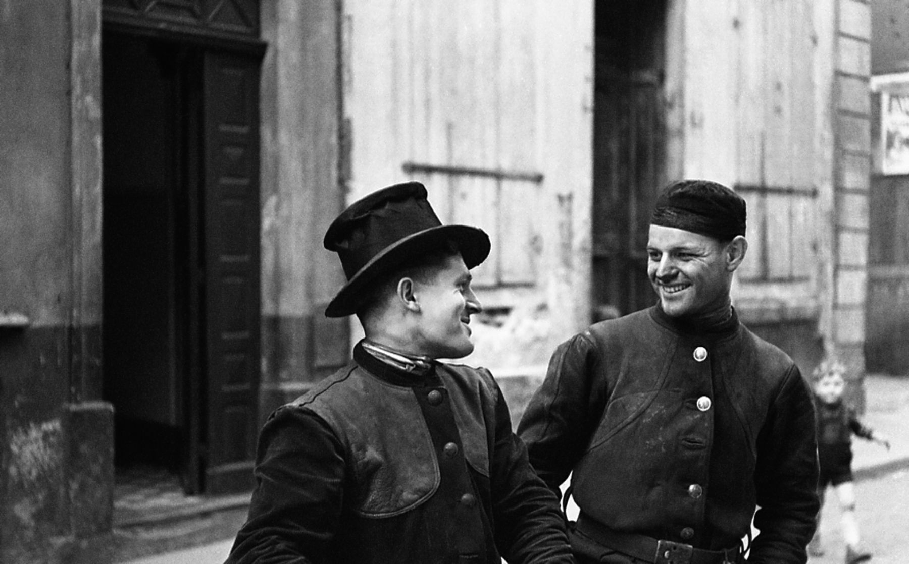 Chimney Sweeps, Germany, 1952, Silver Gelatin Photograph