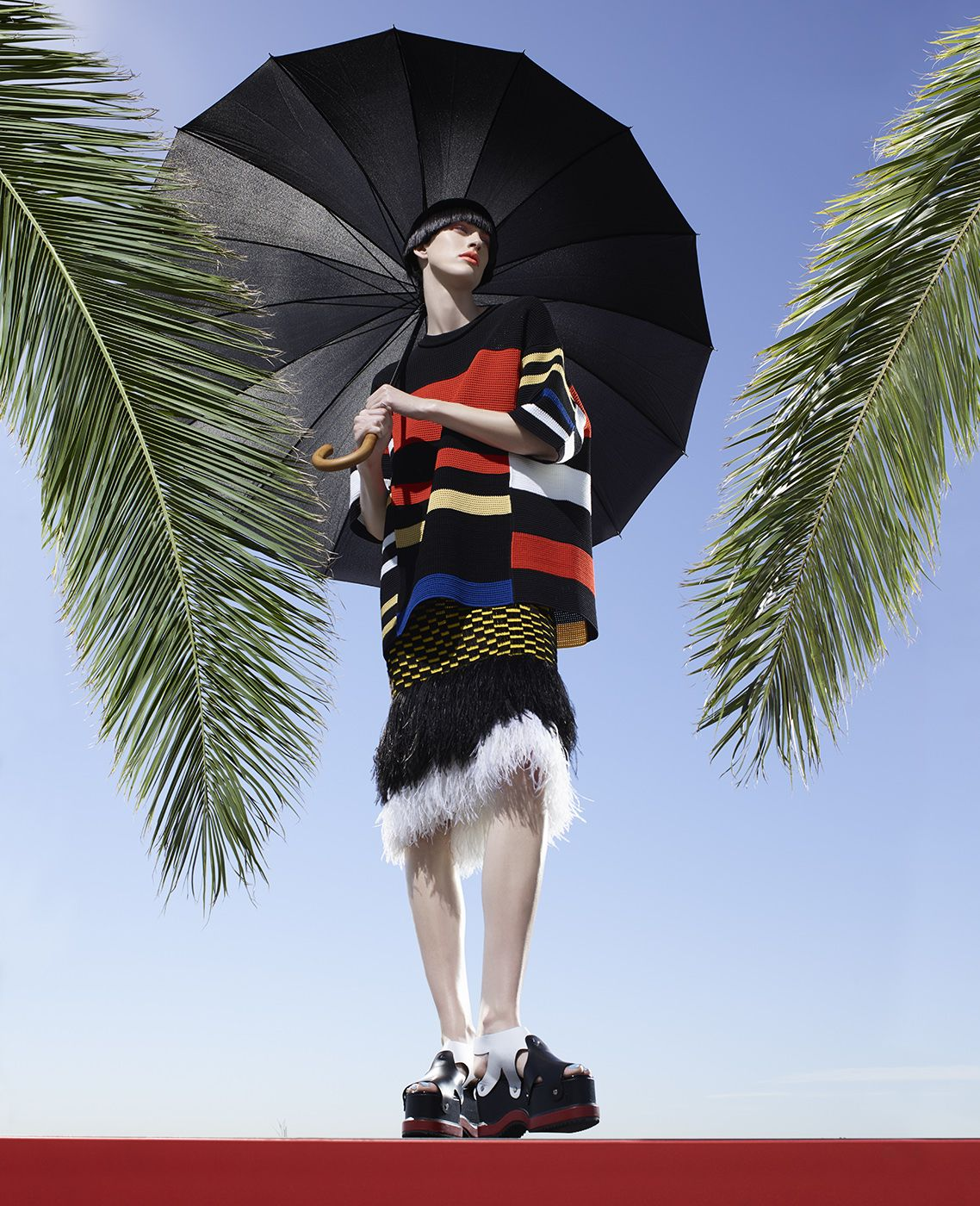 Fashion (with Palm Fronds), Los Angeles, 2016, 40 x 32 1/2 Inches, Archival Pigment Print, Edition of 5