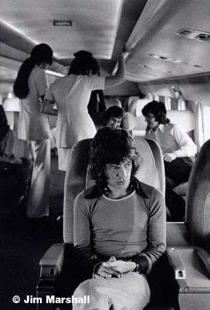 Mick Jagger (on Airplane), 1972, 14 x 11 Silver Gelatin Photograph