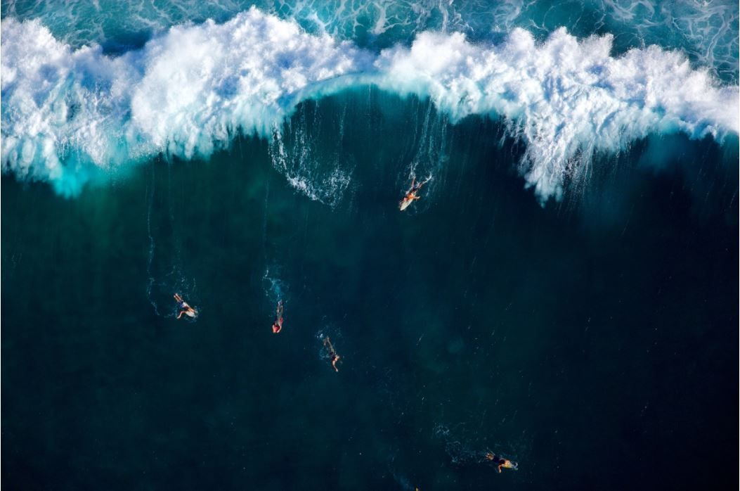 Pipeline Masters, Oahu, HI (Laforet Surfers Tilt-Shift Aerial 02)