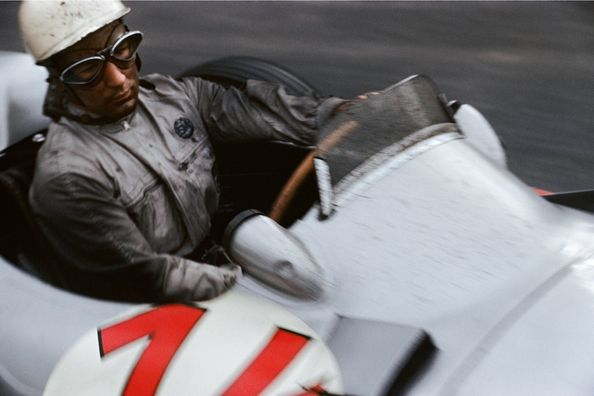 Stirling Moss (Mercedes Benz W196), Grand Prix of Belgium, Francorchamps, 1955
