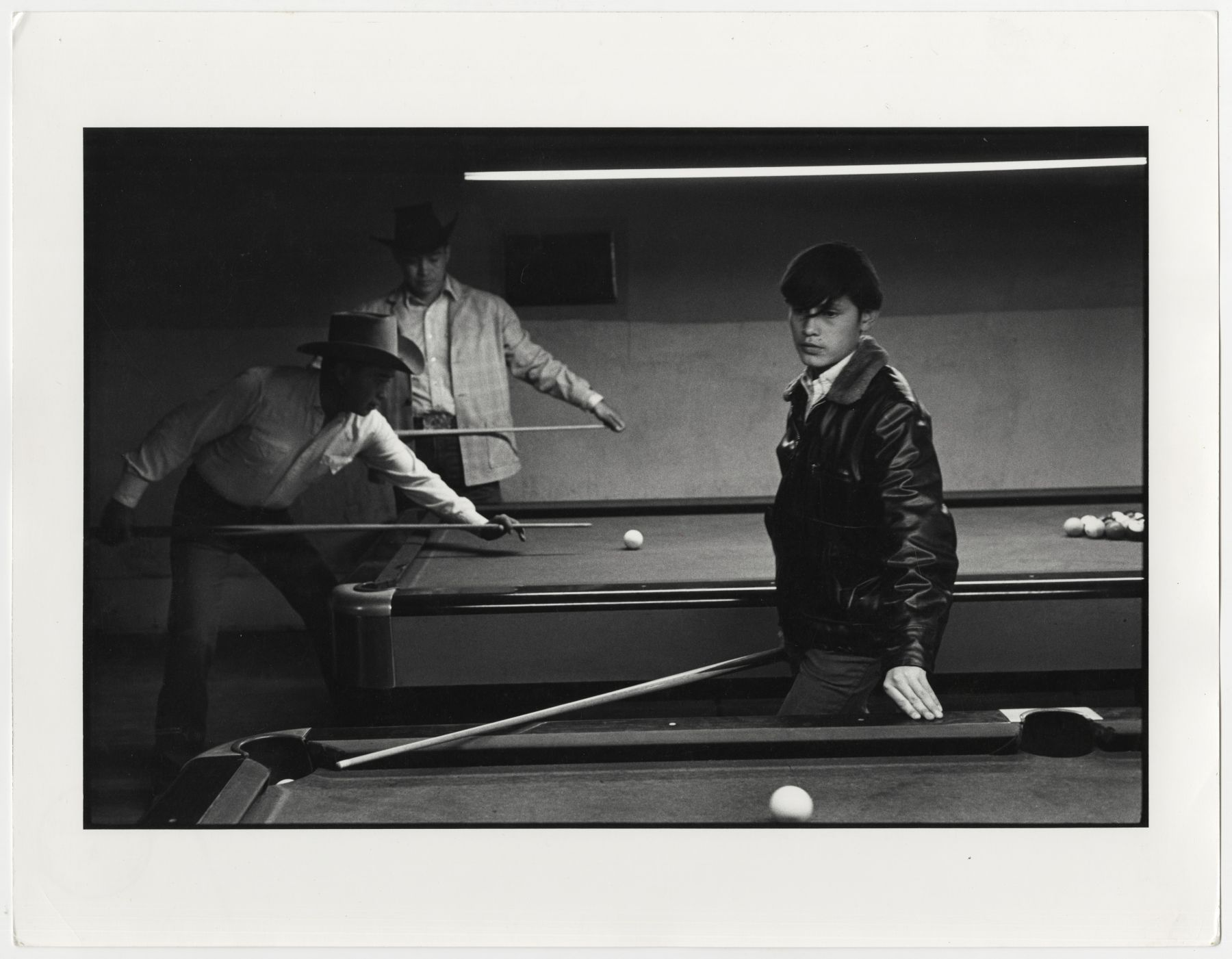 Copyright Danny Lyon / Magnum Photos, Navajo Pool Room, Gallup, New Mexico, 1973