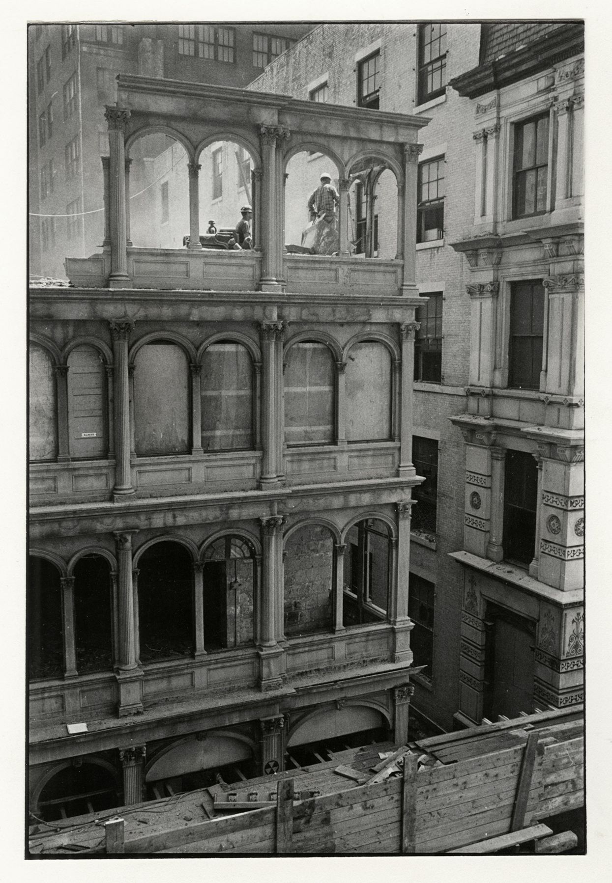 Copyright Danny Lyon / Magnum Photos, Beekman Place, New York, from The Destruction of Lower Manhattan, 1967