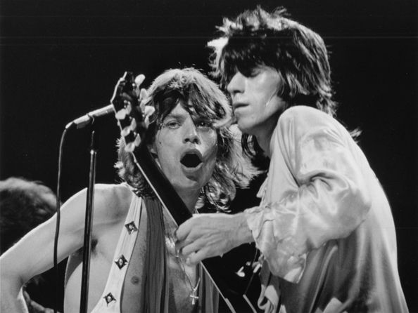 Rolling Stones, Mick & Keith, New York City, 1972, 11 x 14 Silver Gelatin Photograph