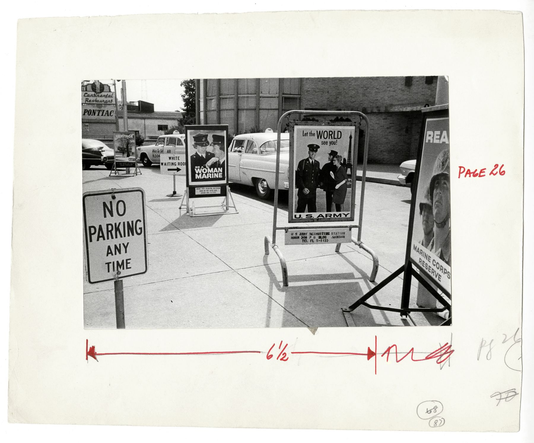 Copyright Danny Lyon / Magnum Photos, Jackson, Mississippi, A Year After the Freedom Rides, Segregation Signs Still Stand Outside the Bus Terminal, from The Movement, 1962