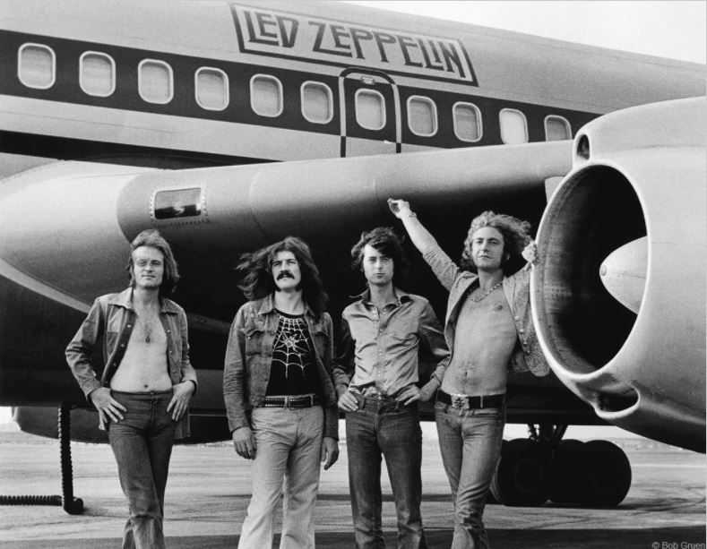 Led Zeppelin (In Front of Plane), New York, 1973