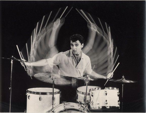 "Sal Mineo, ""The Gene Krupa Story,"" 1959, 10-7/16 x 13-3/8 Vintage Silver Gelatin Photograph"