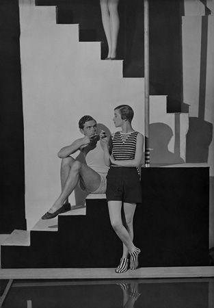 Bettina Jones, Beachwear by Schiaparelli, 1928, 20 x 16 Platinum Palladium on 24 x 20 Paper, Ed. 27
