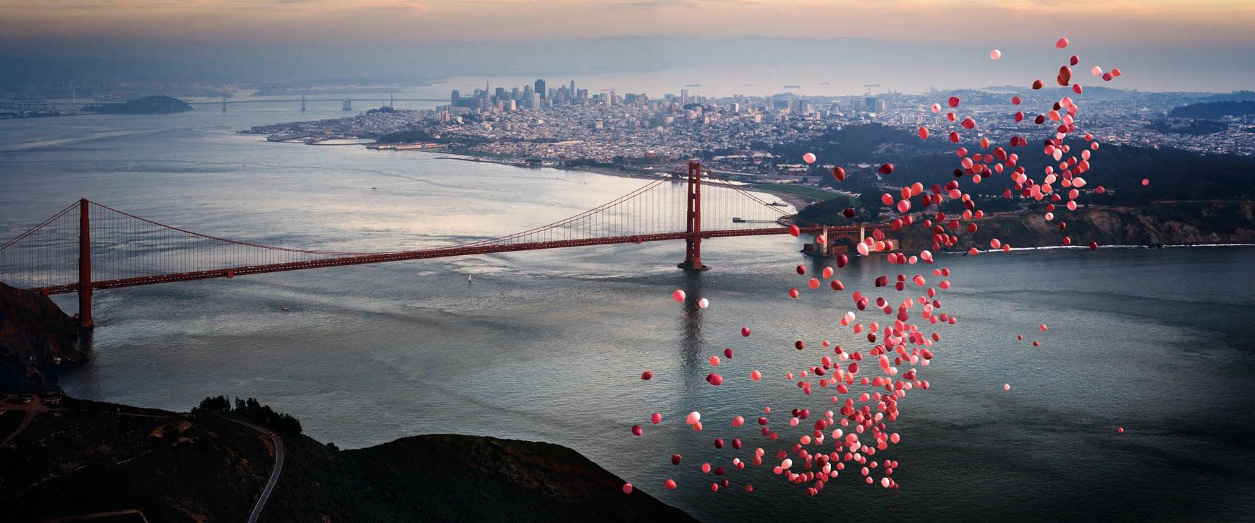 BALLOONS OVER SAN FRANCISCO, Archival Pigment Print