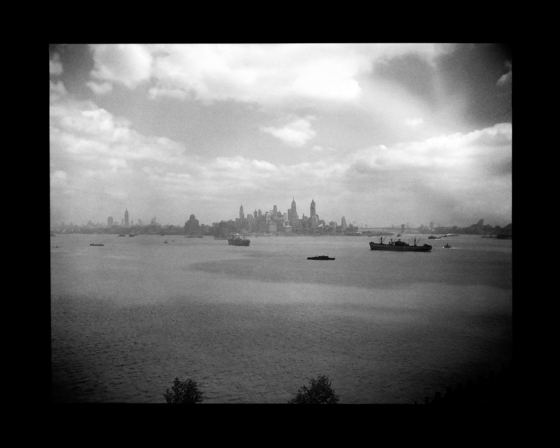 N.Y. Harbor, 1947, Silver Gelatin Photograph