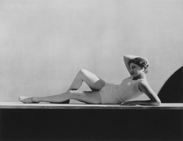 Agneta Fischer, Swimwear by Schiaparelli, 1931, 16 x 20 Platinum Palladium on 20 x 24 Paper, Ed. 27