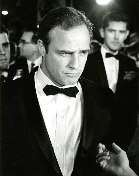 Marlon Brando at a Hollywood Première, 1969, Silver Gelatin Photograph