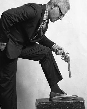 Man Shooting Himself in the Foot, 2008