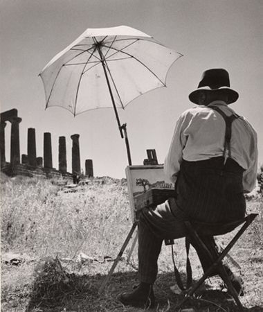 The Joys of Old Age, Agrigent, Sicily, 1952, 10-15/16 x 9-1/8 Vintage Silver Gelatin Photograph