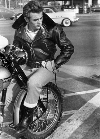 James Dean, On Motorcycle, Los Angeles, 1955, 20 x 16 Silver Gelatin Photograph