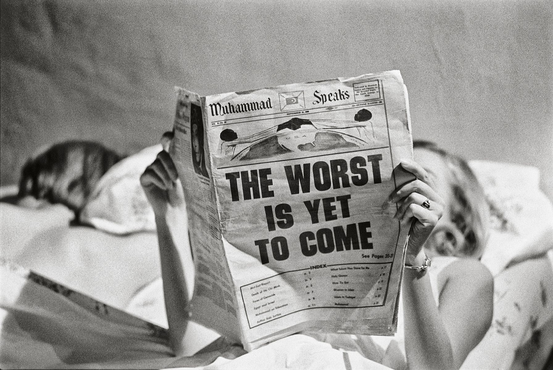 The Worst Is Yet To Come, New York, c. 1968, 16 x 20 Inches, Silver Gelatin Photograph, Edition of 25