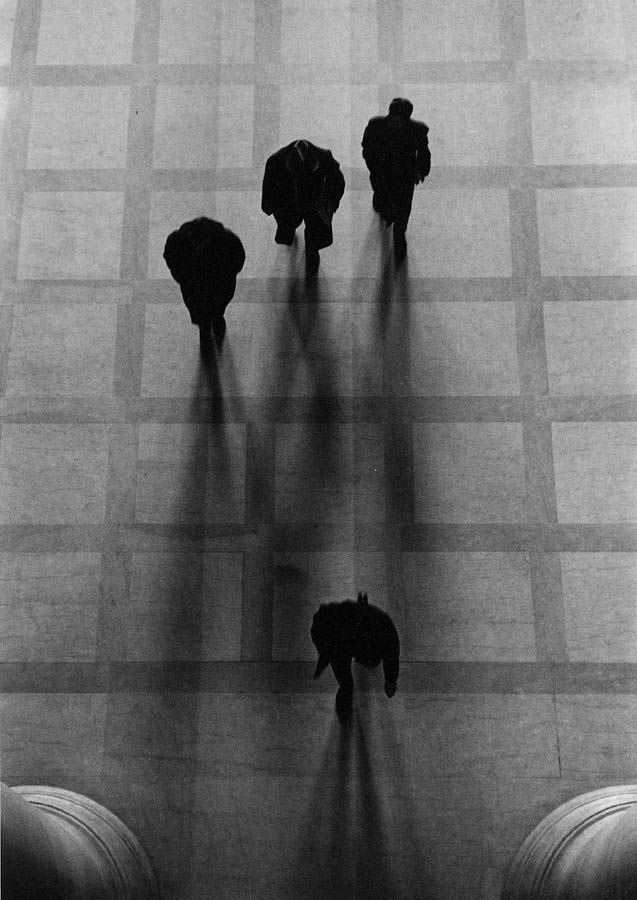 Going to Class, M.I.T., 1958, Silver Gelatin Photograph