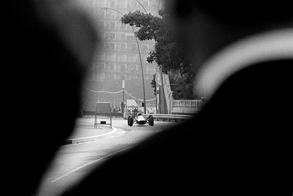 Race View Over Spectator's Shoulder, Monaco, 1962