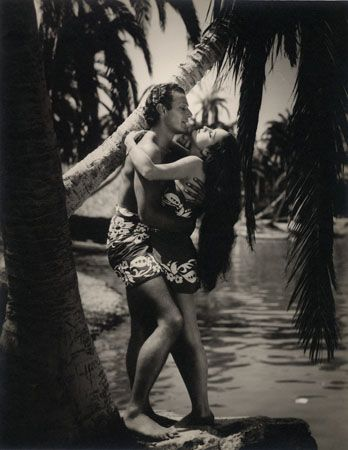 "Dorothy Lamour & Unidentified, ""Jungle Princess,"" c. 1930s, 13-7/8 x 10-7/8 Vintage Silver Gelatin Photograph"