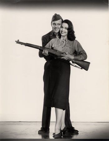 "Jack Lemmon & Kathryn Grant, ""Operation Mad Ball,"" 1957, 13-5/16 x 10-2/8 Vintage Silver Gelatin Photograph"