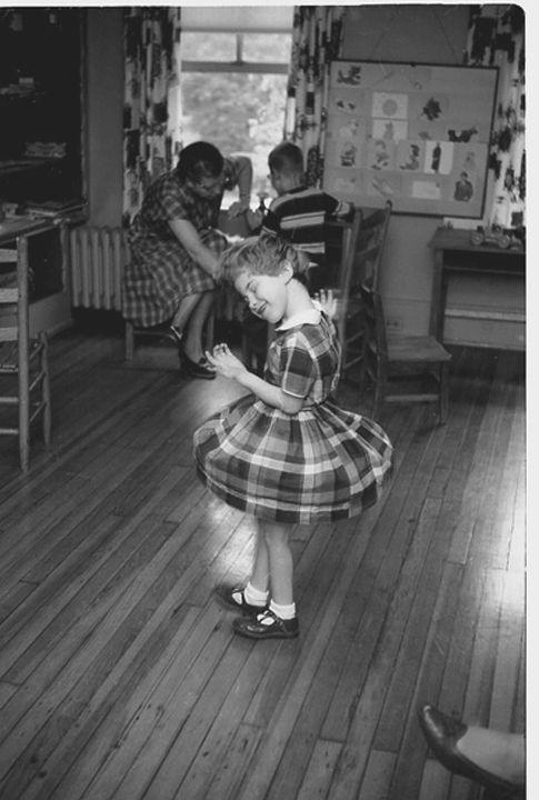 Girl Twirling, Helen Keller Cottage, Talledega, AL, 1956, Silver Gelatin Photograph