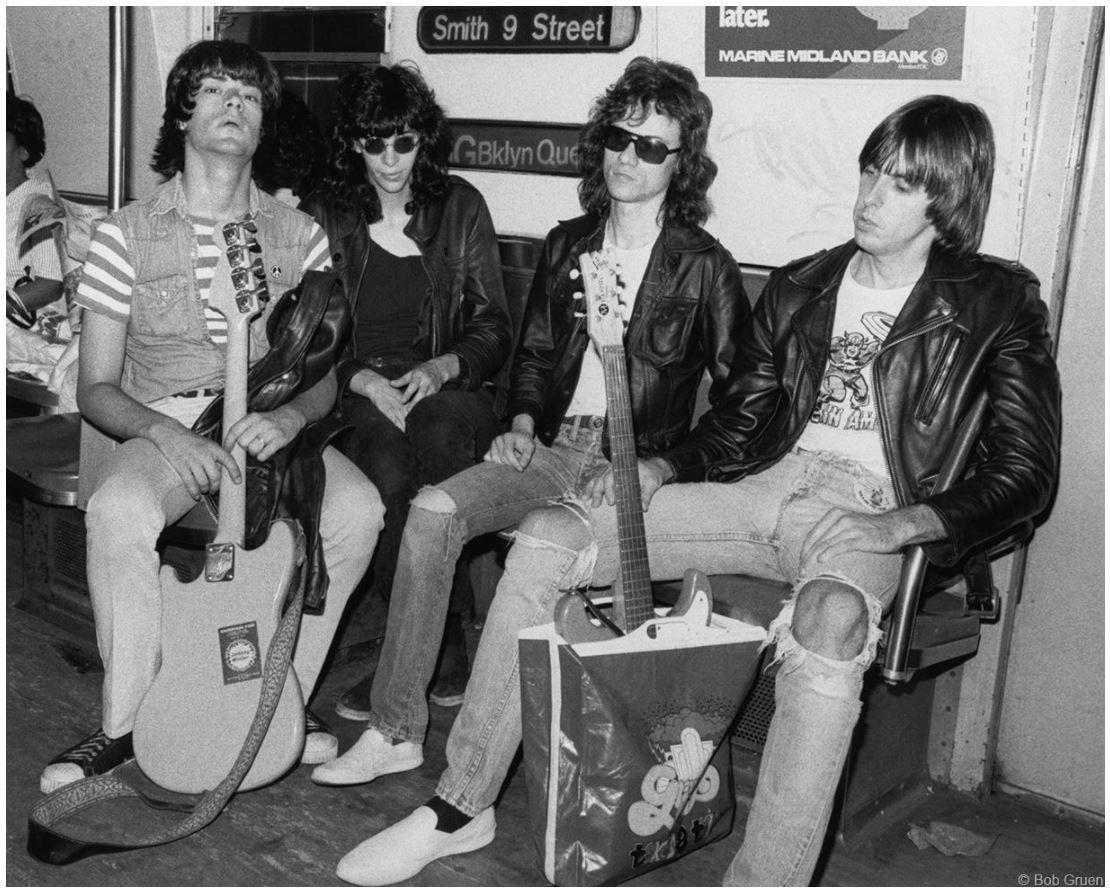 Ramones, Subway, New York City, 1975, 11 x 14 Silver Gelatin Photograph