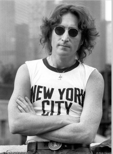 John Lennon with New York City T-Shirt, New York City, 1974, 11 x 14 Silver Gelatin Photograph