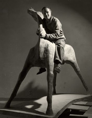 Marino Marini III, Milano, 1952, 40cm x 30cm Silver Gelatin Photograph