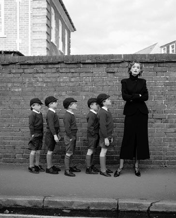 Model with Schoolboys, 1995
