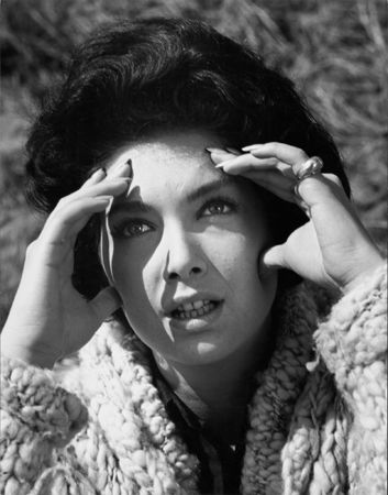 """""""The Birds,"""" Suzanne Pleshette (hands to face), 1963, 14 x 11 Vintage Silver Gelatin Photograph"""