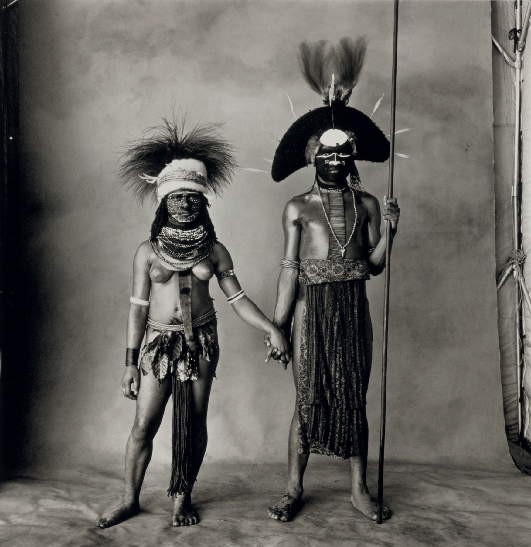 Young Enga Couple, New Guinea, 1970, Platinum Palladium Photograph, Ed. of 30