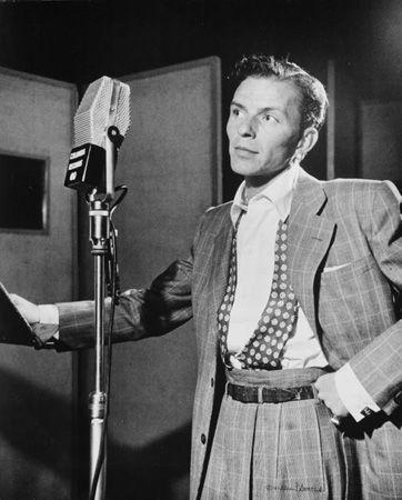 Portrait of Frank Sinatra, Liederkrantz Hall, New York, NY, c. 1947, 20 x 16 Silver Gelatin Photograph
