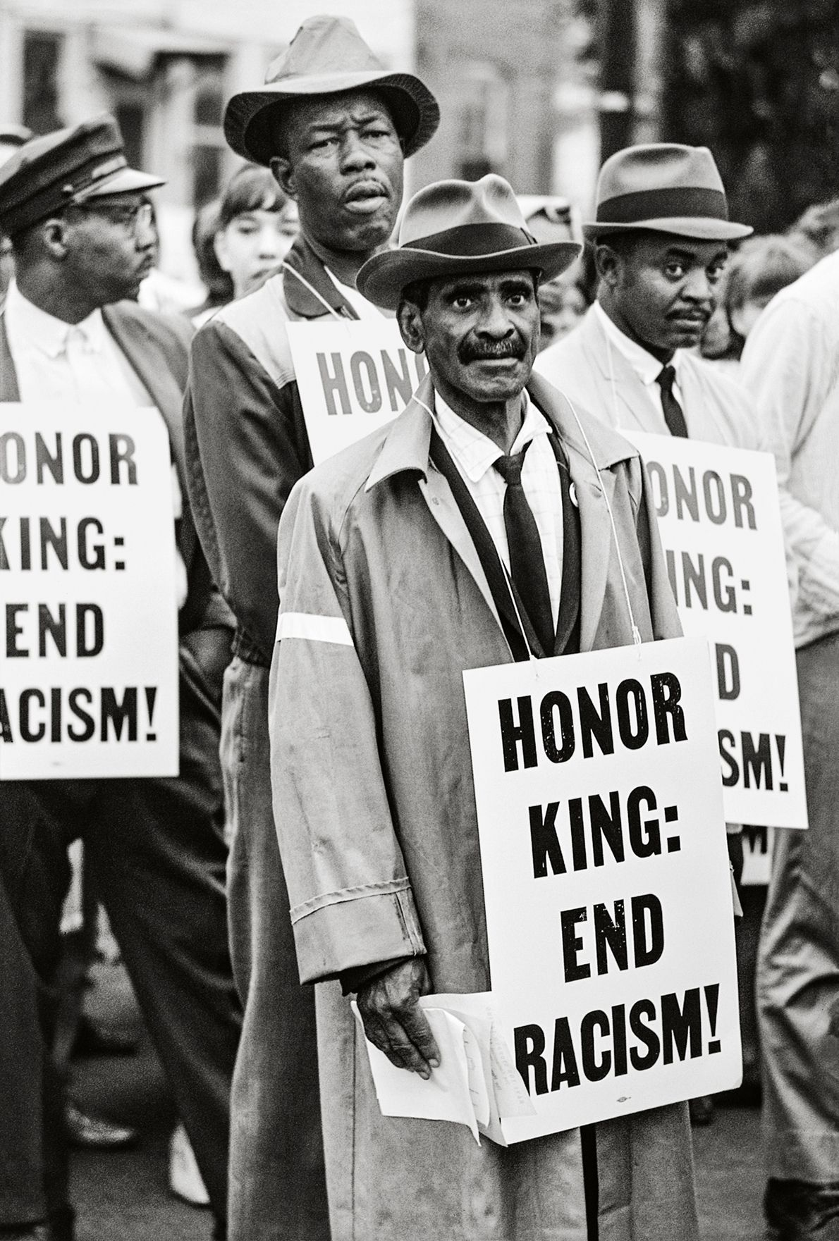Honor King: End Racism, Memphis, 1968, 20 x 16 Inches, Silver Gelatin Photograph, Edition of 25