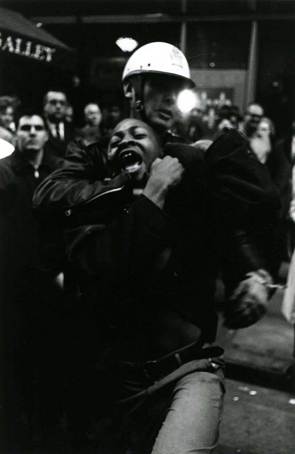 Copyright Danny Lyon / Magnum Photos, Arrest of Taylor Washington in Atlanta (Leb's Restaurant, from Memories of the Civil Rights Movement, 1963