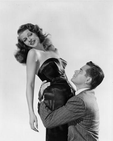 "Rita Hayworth and Glenn Ford, ""Gilda,"" 1946, 10 x 8 Vintage Silver Gelatin Photograph"