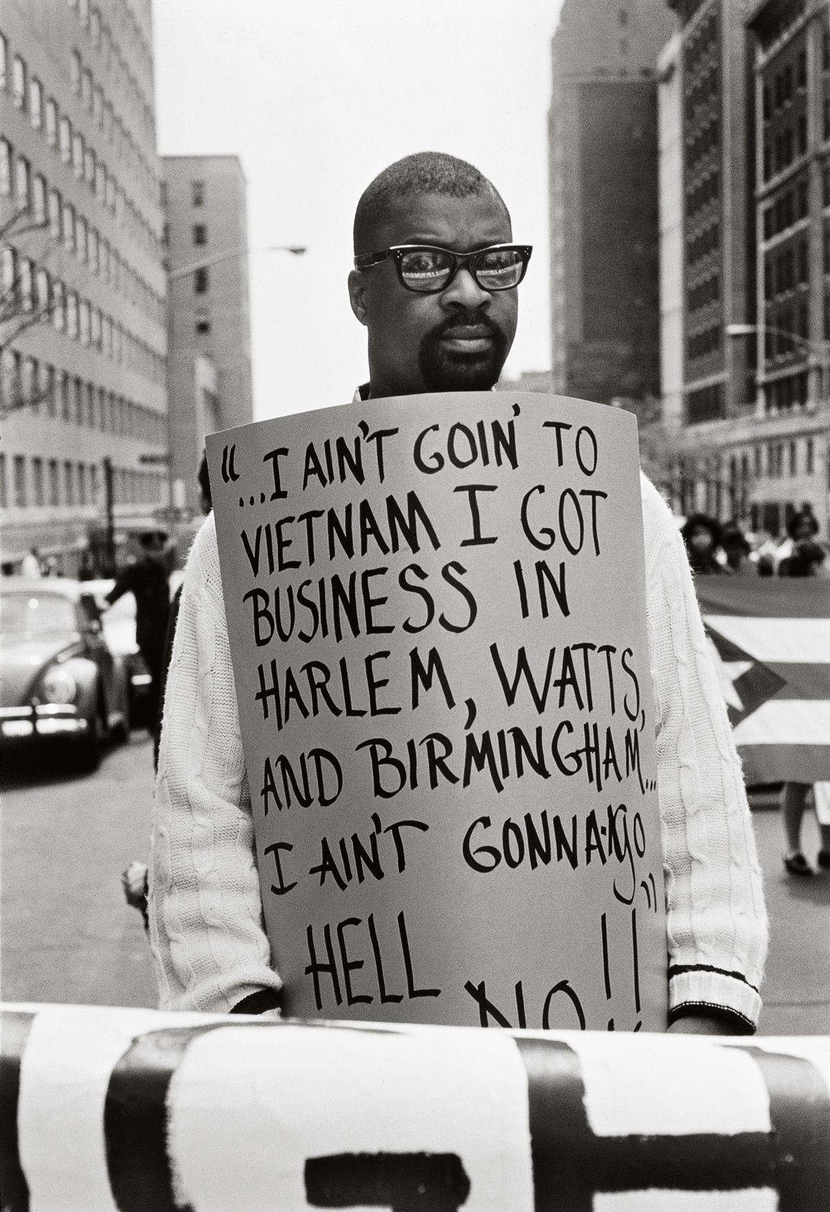 """""""I Ain't Goin...,"""" New York, 1968, 20x 16Inches, Silver Gelatin Photograph, Edition of 25"""