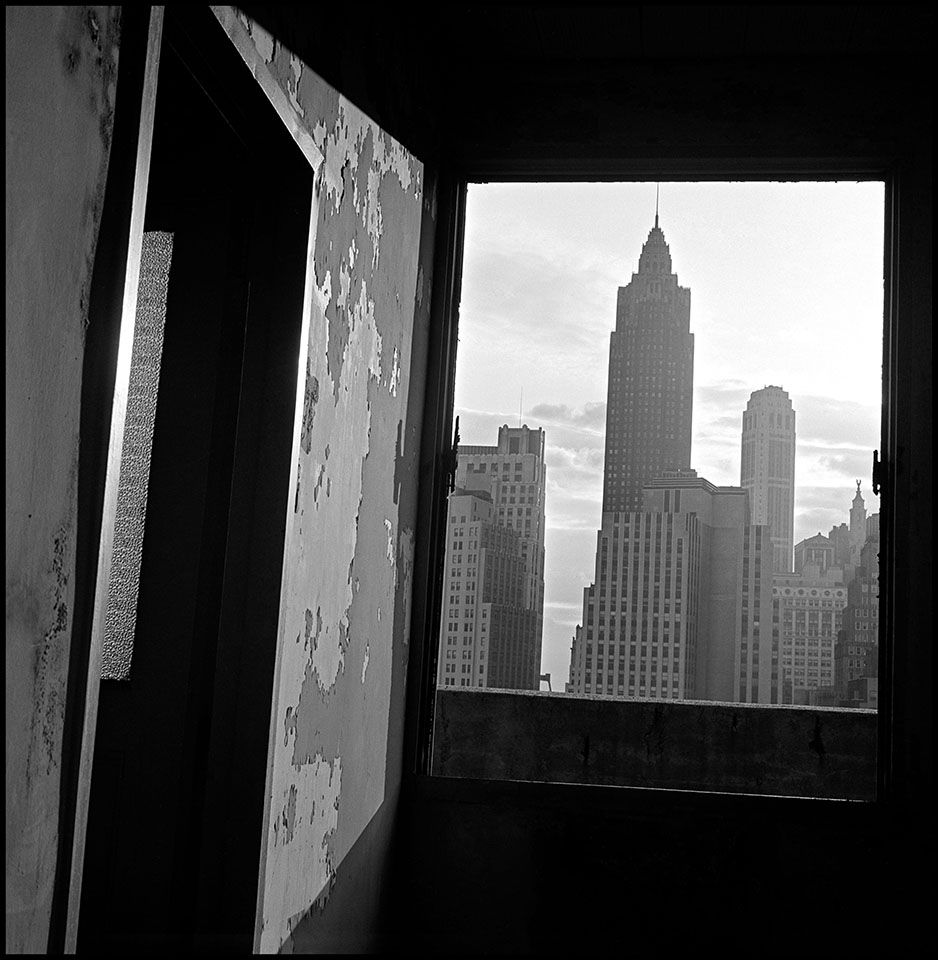 Copyright Danny Lyon / Magnum Photos, View south from 100 Gold Street, New York,from The Destruction of Lower Manhattan, 1967