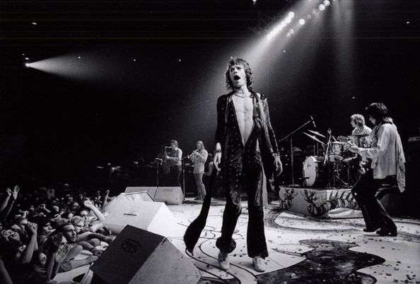 Mick Jagger on Stage with the Rolling Stones, 1972, 16 x 20 Silver Gelatin Photograph