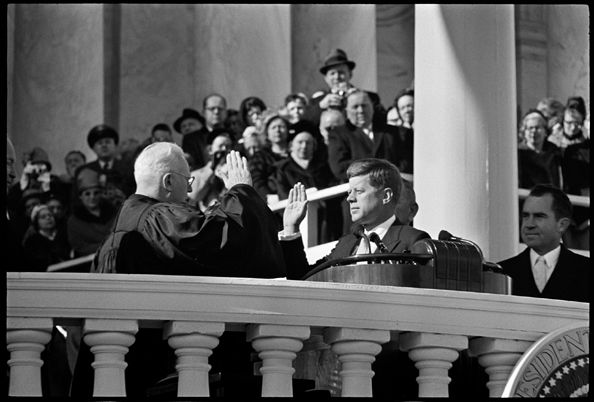 John F. Kennedy Inauguration, JFK Taking Oath, January, 1961