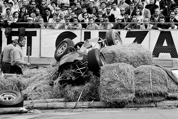 Lotus Crash, Monaco, 1962