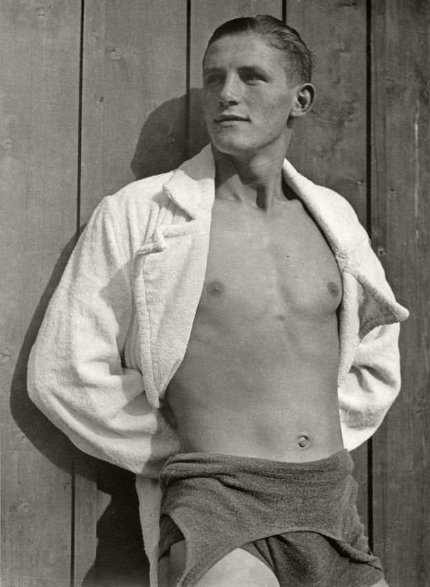 Franz Baumgartner at the Public Pool, Munich, Germany, 1934, Silver Gelatin Photograph