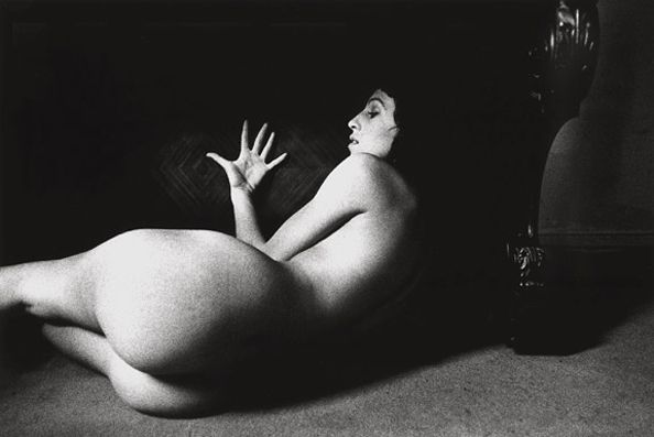Untitled (Nude with Open Hand), 1973, 11 x 14 Silver Gelatin Photograph, Ed. 25