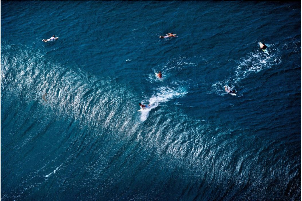 Pipeline Masters, Oahu, HI (Laforet Surfers Tilt-Shift Aerial 08)