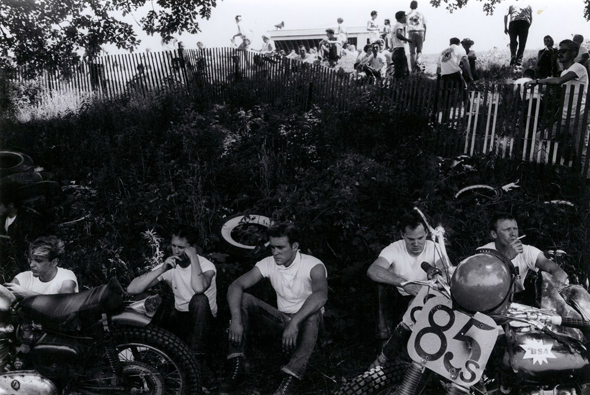 Copyright Danny Lyon / Magnum Photos, Racers, McHenry, Illinois, from The Bikeriders, 1965