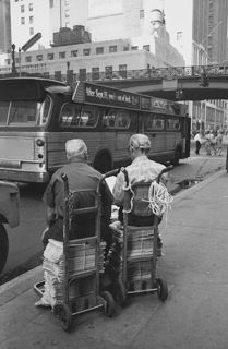 Two guys reading 42nd St. NYC, ca.1960, Silver Gelatin Photograph