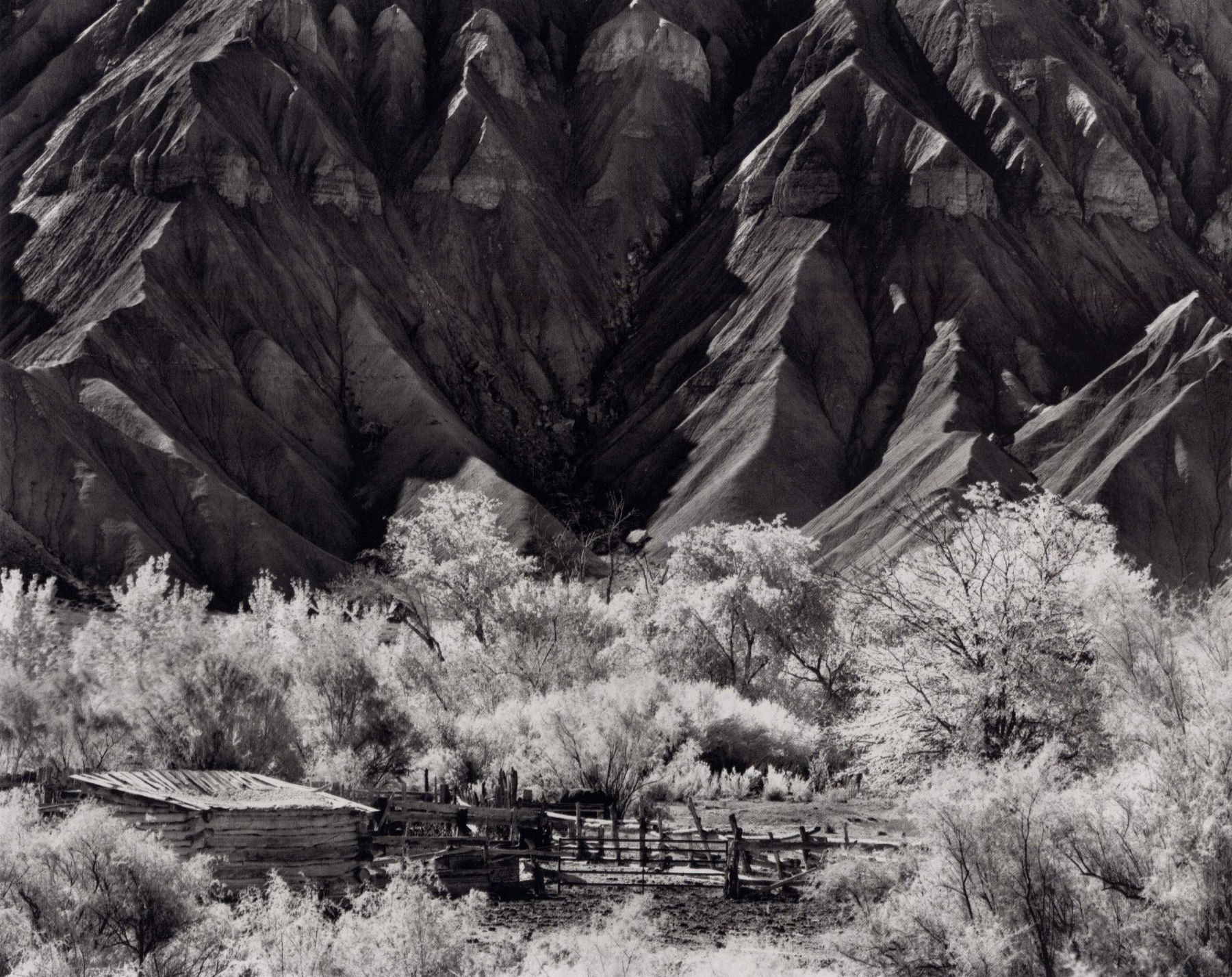 Corral and Cainville Buttes, 2001, 22 x 28 Inches, Silver Gelatin Photograph