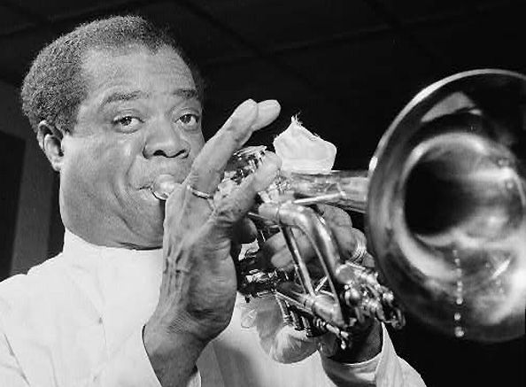 Portrait of Louis Armstrong, Carnegie Hall, New York, NY, 16 x 20 Silver Gelatin Photograph