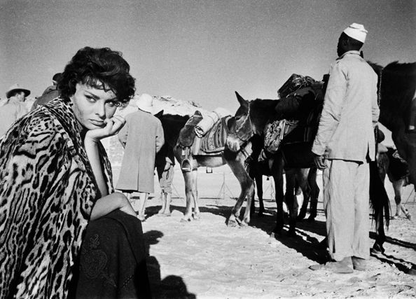 "Sophia Loren on the Set of ""Legends of the Lost"", 1957"
