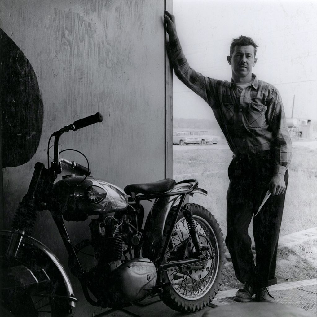 Copyright Danny Lyon / Magnum Photos, Johnny Goodpaster, Hobart, Indiana, from The Bikeriders, 1965