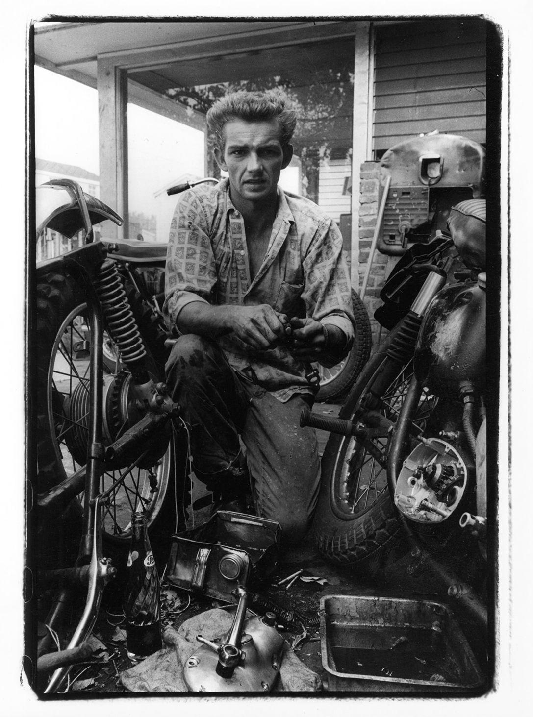Copyright Danny Lyon / Magnum Photos, Broken Gear Box, New Orleans, from The Bikeriders, 1964